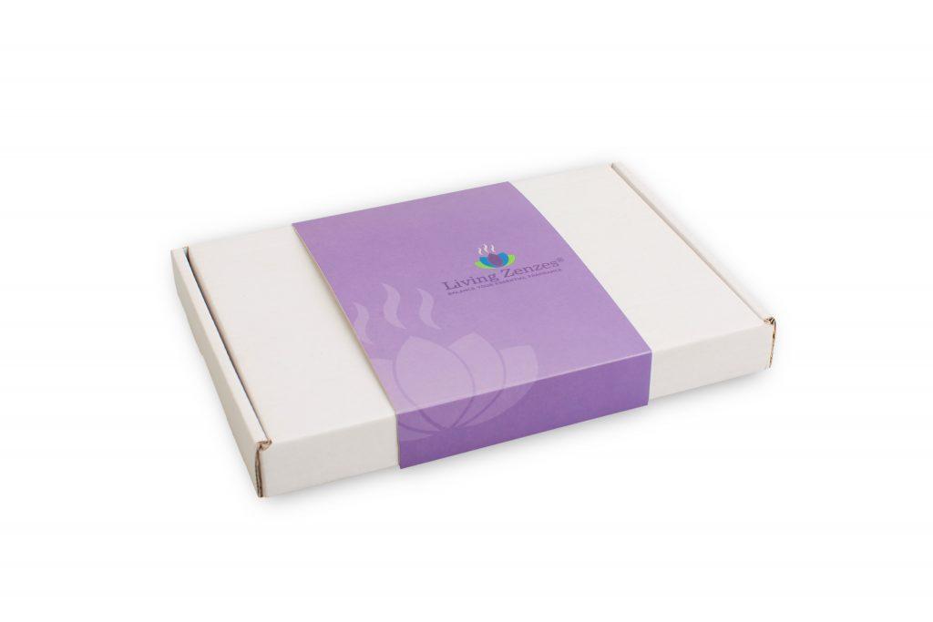 Witte brievenbusdoos golfkarton met full colour sleeve