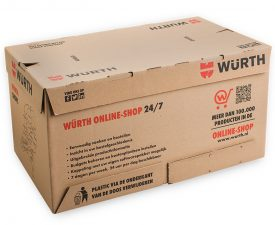 Stansverpakking golfkarton bruin 2 kleuren flexo bedrukt
